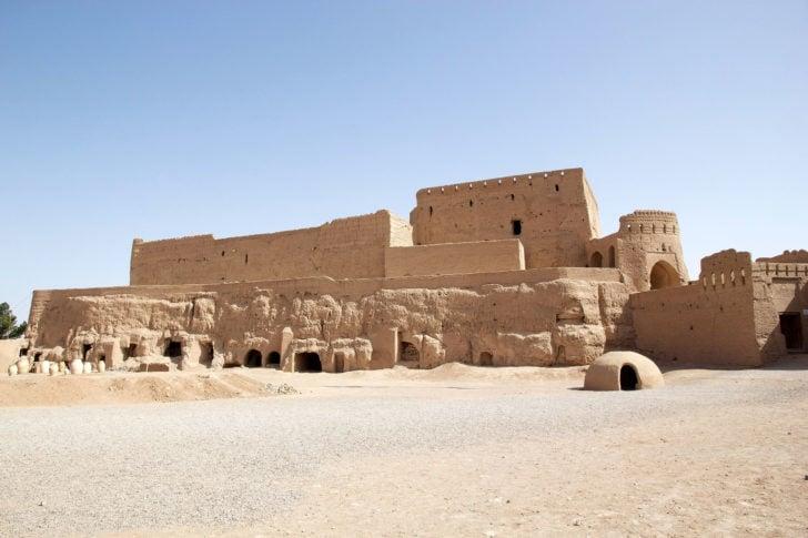 Le château de Narin Qaleh en Iran