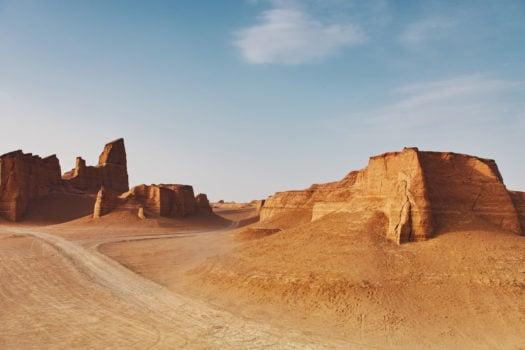 Le désert des kaluts en Iran