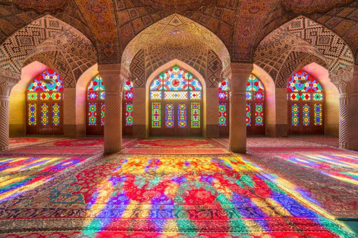 La mosquée Nasir al-Mulk en Iran