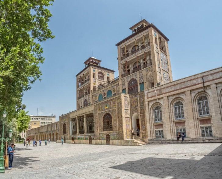 Le palais de Golestan en Iran