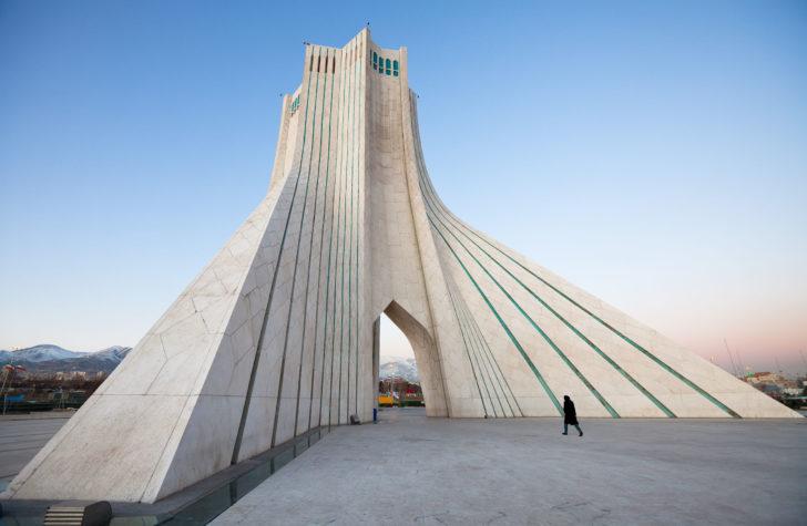 La tour Azadi en Iran