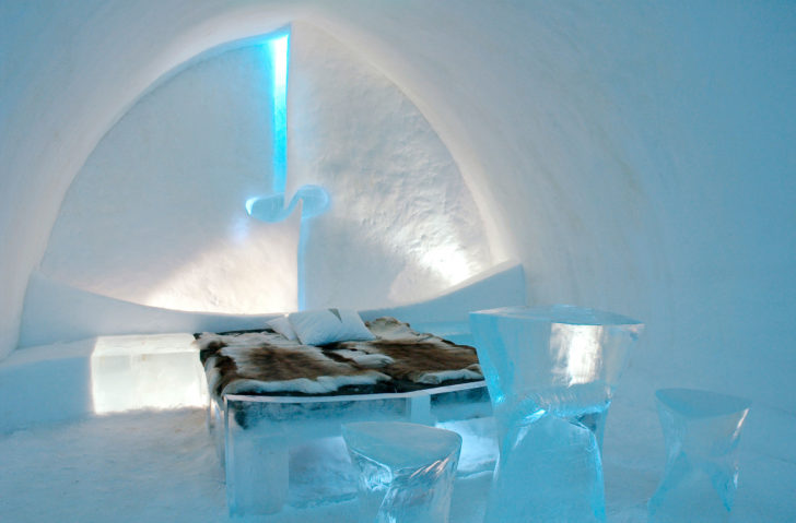 Un hôtel en glace en Laponie
