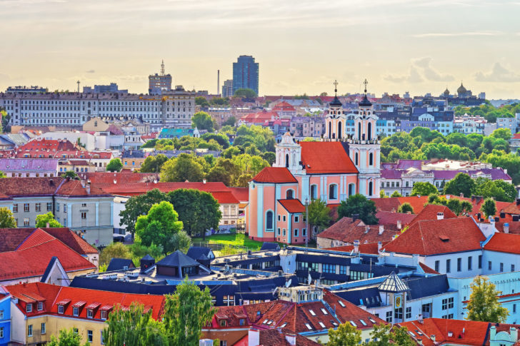 Vilnius capitale de la Lituanie, Pays baltes