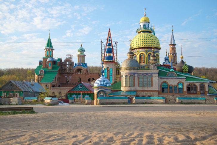 Temple de toutes les religions à Kazan en Russie