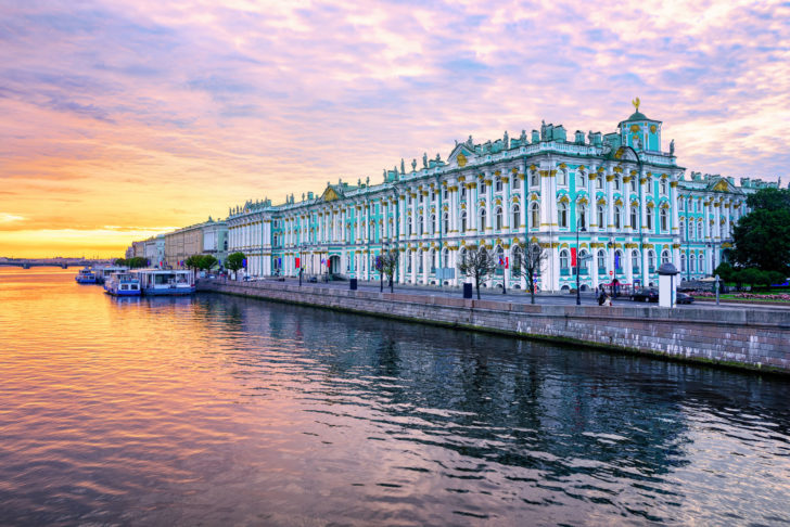 Saint-Petersbourg en Russie