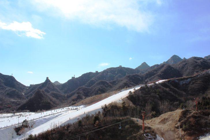 La station de ski Huaibei en Chine