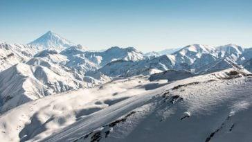 La station de ski Dizin en Iran