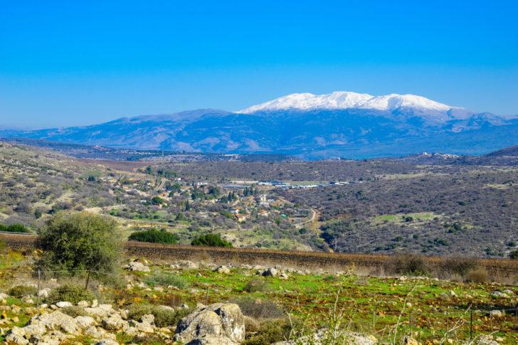 La station de ski Mount Hermon en Israel