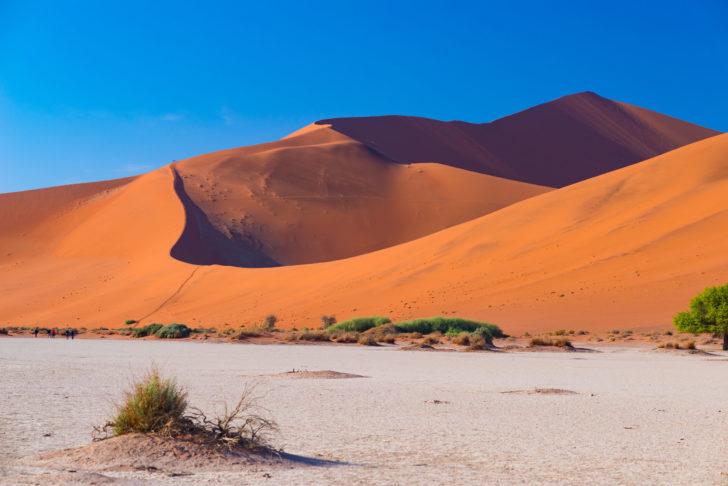 Les dunes en Namibie