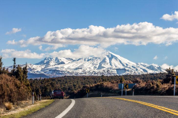 La station de ski Mont Ruapehu en Nouvelle-Zélande
