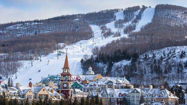 La station de ski Mont-Tremblant au Canada
