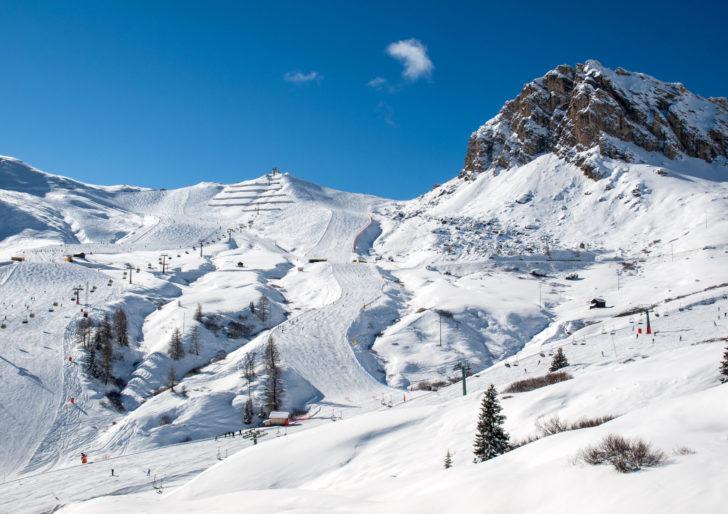 La station de ski Val Gardena en Italie