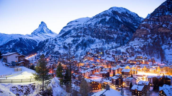 La station de ski Zermatt en Suisse