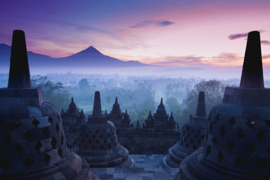 Borobudur temple , java, indonesia.