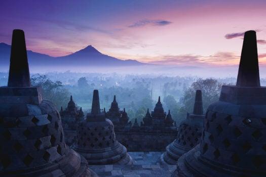 Borobudur temple , java, indonesia.