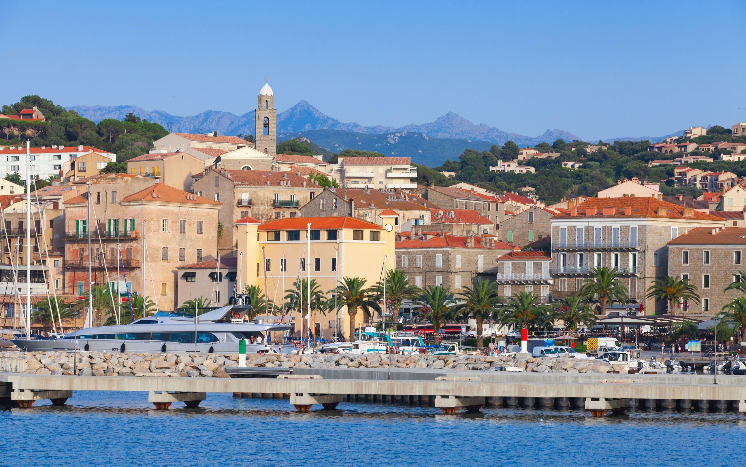 Port de Propriano, sud de la Corse, France