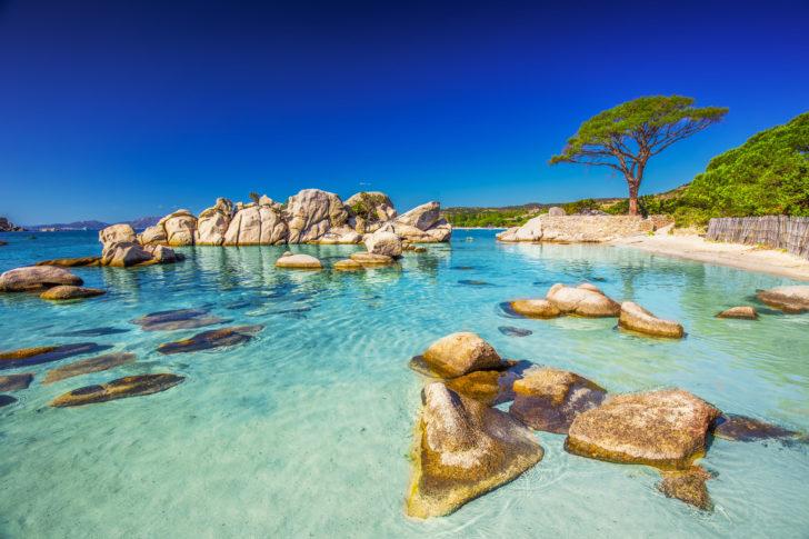 Plage de Palombaggia, sud de la Corse