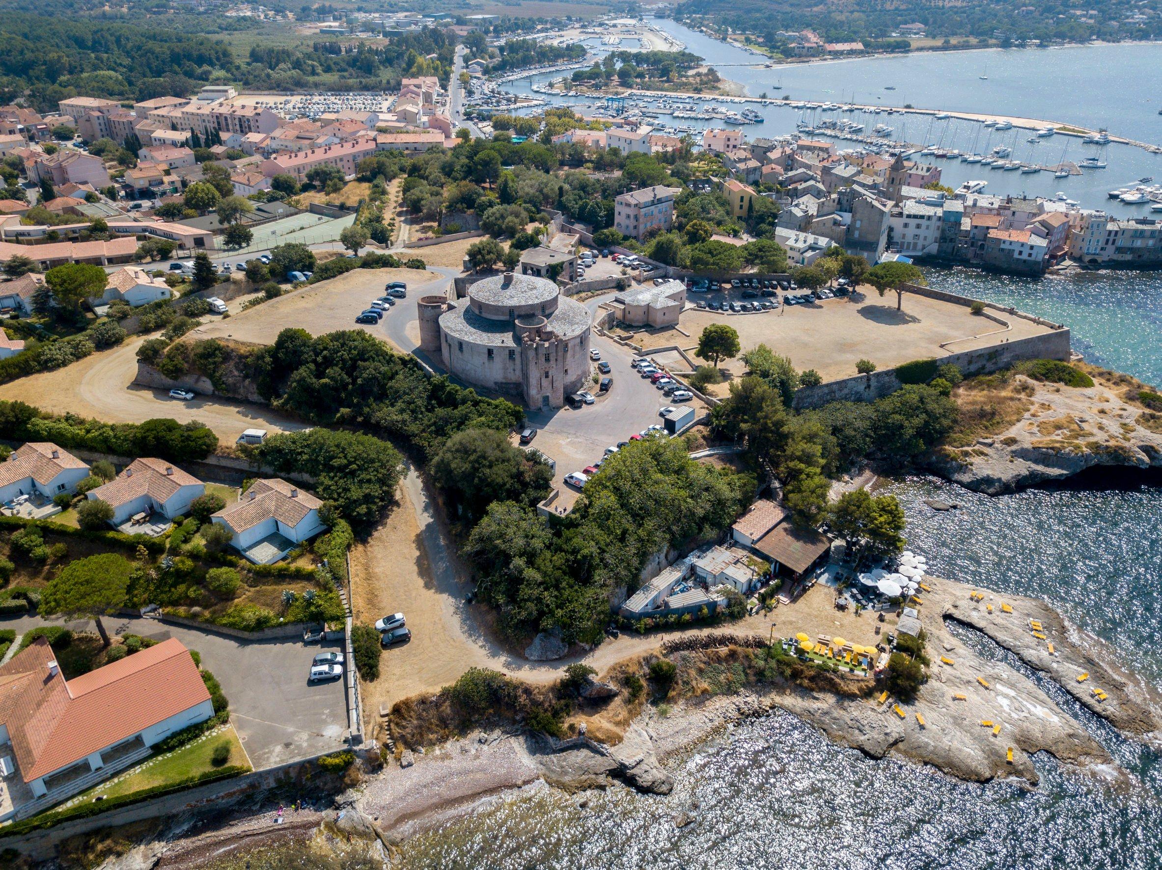 Vue aérienne de Saint-Florent en Corse