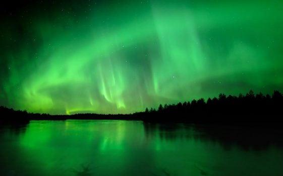 aurore boréale en laponie finlande